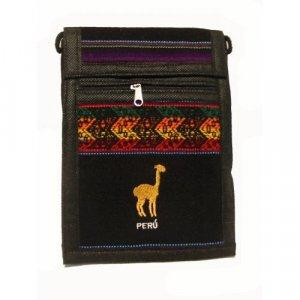 "Black Llama  Shoulder Bag 8.5""H x 5.75""W with 40 inch shoulder strap"