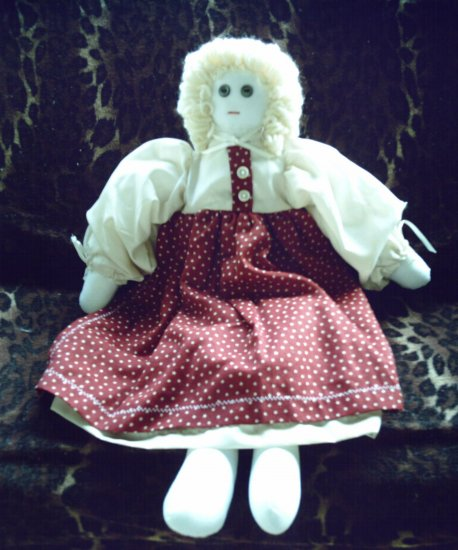 One of A Kind Handmade Old Fashioned Style Girl Cloth Doll OOAK Handcrafted Dolls