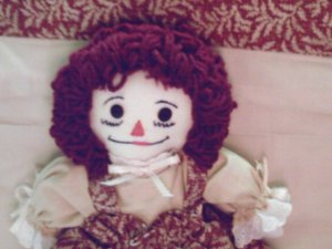 Handmade Raggedy Ann with Matching Quilt One of a Kind Hand made Cloth Dolls and Quilts OOAK