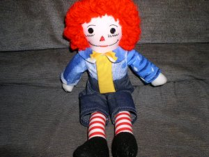 Sunshine Raggedy Andy Handmade One of a Kind Cloth Doll Handcrafted dolls OOAK