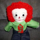 Christmas Tree Raggedy Andy Handmade One of a Kind Cloth Doll OOAK Hand crafted Dolls