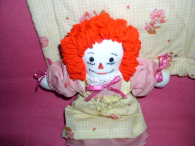 Strawberry Shortcake Raggedy Ann Doll and Matched Fleece Quilt Handmade One of a Kind