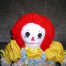 Handmade One of a Kind Raggedy Ann Doll OOAK Handcrafted Dolls Yellow Floral!
