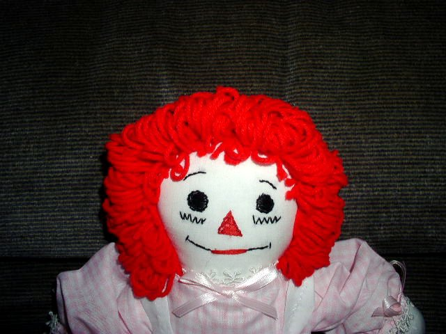 Pink Gingham Raggedy Ann Doll Handmade One of a Kind OOAK Cloth Dolls Really Cute!