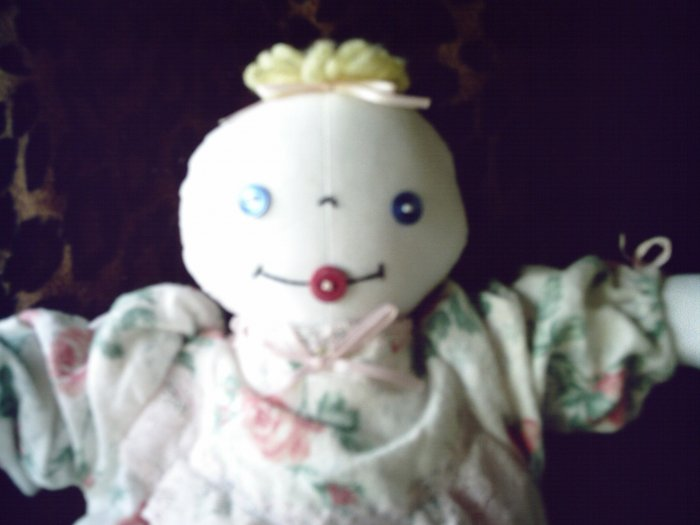 SOLD 15 inch New Baby Cutie Cloth Handmade Doll One of A Kind OOAK