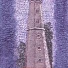 North Point Lighthouse Machine Embroidered On White Hand Towel