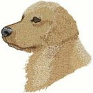 Golden Retreiver Dog Head Machine Embroidered On Hand Towel