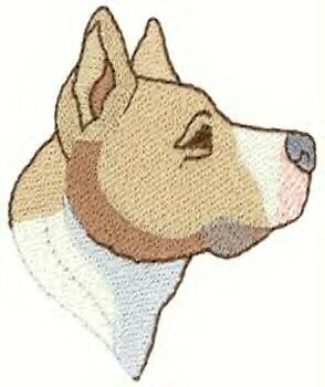 Pit Bull Terrier Head Machine Embroidered On Hand Towel