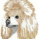 Poodle Head Machine Embroidered On Hand Towel