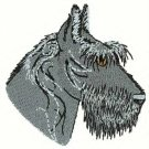 Scotty Dog Head Machine Embroidered On Hand Towel