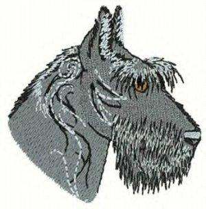 Scotty Dog Head Machine Embroidered On Hand Towel