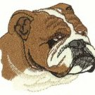 Bulldog Head Machine Embroidered On Hand Towel
