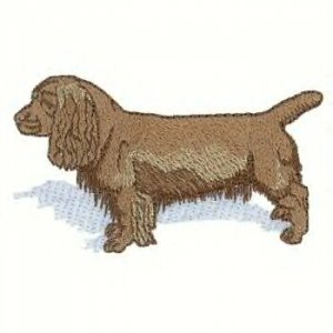 Sussex Spaniel Machine Embroidered on Hand Towel