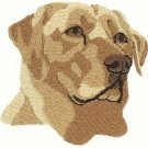 Labrador Retriever Head Machine Embroidered on Hand Towel