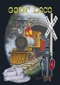 Goin Loco Mini Garden Train Flag