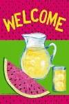 Welcome Summer Watermelon Large Flag