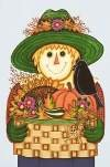 Crow Basket Scarecrow Garden Mini Flag