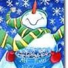 All Flakes Welcome Snowman Christmas Winter Large Flag