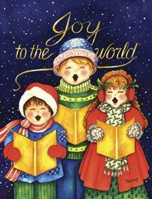Joy to the World Carolers Winter Christmas Garden Mini Flag