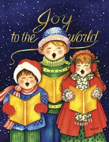 Joy to the World Carolers Winter Christmas Large Flag