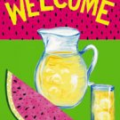 Welcome Summer Watermelon Garden Mini Flag