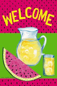 Welcome Summer Watermelon Garden Mini Flag