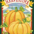 Harvest Time Pumpkin Fall Garden Mini Flag
