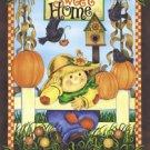 Home Sweet Home Scarecrow Garden Mini Flag