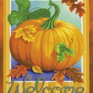 Welcome Pumpkin Garden Mini Flag