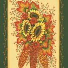 Indian Corn Sunflower Fall Garden Mini Flag