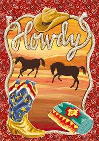 Howdy Ranch Texas Garden Mini Flag