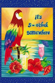 It's 5 o'clock Somewhere Jimmy Buffet Garden Mini Flag