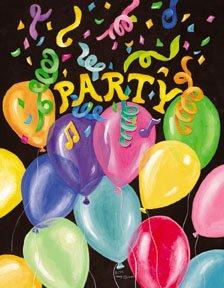 Balloon Party Birthday Large Flag
