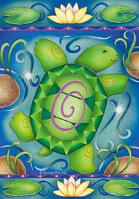 Turtles Lily Pad Garden Mini Summer Flag