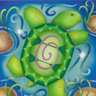 Turtles Lily Pad Large Summer Flag