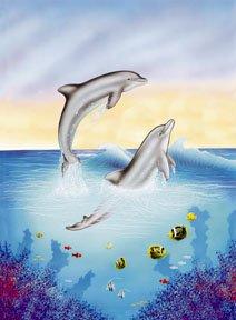 Dolphins Summer Garden Mini Flag