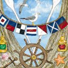 Welcome Nautical Garden Mini Summer Flag