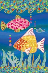 Tropical Fish Large Summer Flag