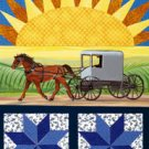 Amish Sunrise Summer Large Flag