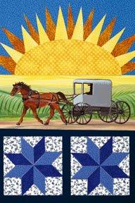 Amish Sunrise Summer Large Flag