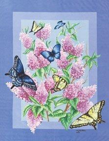 Lilac Butterfly Garden Mini Summer Flag