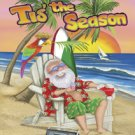 Santa Beach Tis the Season Garden Mini Flag