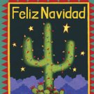 Feliz Navidad Christmas Catcus Winter Large Flag