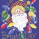 Bright Days Santa Winter Christmas Large Flag