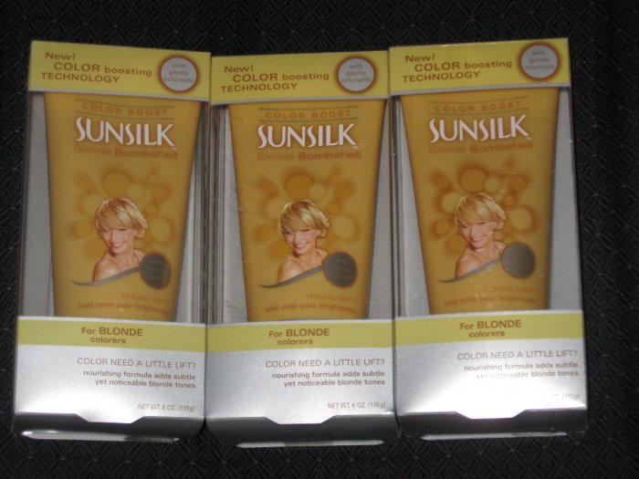 3 boxes of Sunsilk Blonde Bombshell Color Boost for Blonde Colorers