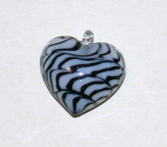 Black & White Stripped Pendant