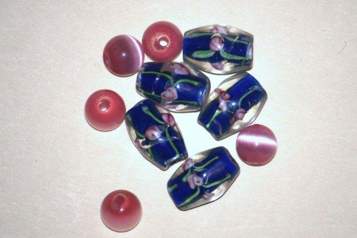 Pink Blue Rose Set