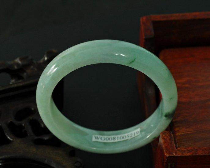Light green Burmese jadeite bangle BG01010