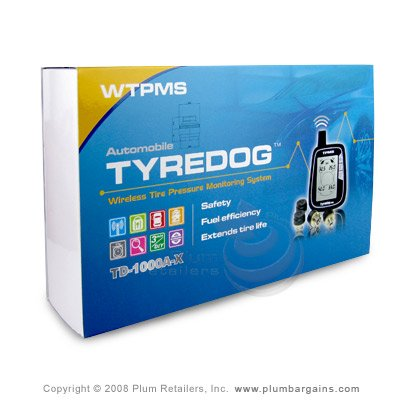 Tyredog Wireless TPMS Car Tyre Pressure Monitor System Sensors TD-1000A