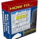 How to Build Huge Niche Keyword Lists